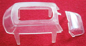 French Dinky Toys 24CP Citroen DS19 clear plastic window unit (2 parts)