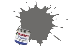 HUMBROL NO.1 MATT GREY PRIMER ENAMEL PAINT 14ml