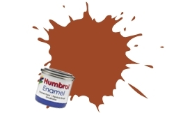 HUMBROL NO.100 MATT RED BROWN ENAMEL PAINT 14ml