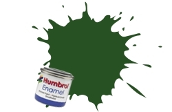 HUMBROL NO.101 MATT MID GREEN ENAMEL PAINT 14ml