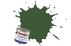 HUMBROL NO.102 MATT ARMY GREEN ENAMEL PAINT 14ml