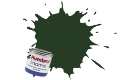 HUMBROL NO.117 MATT US LIGHT GREEN ENAMEL PAINT 14ml