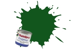 HUMBROL NO.120 MATT LIGHT GREEN ENAMEL PAINT 14ml
