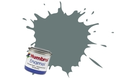 HUMBROL NO.129 SATIN US GULL GREY ENAMEL PAINT 14ml