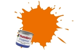 HUMBROL NO.18 ORANGE ENAMEL PAINT 14ml