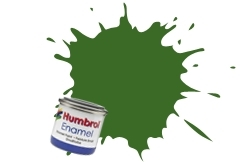 HUMBROL NO.30 MATT DARK GREEN ENAMEL PAINT 14ml