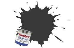 HUMBROL NO.33 MATT BLACK ENAMEL PAINT 14ml