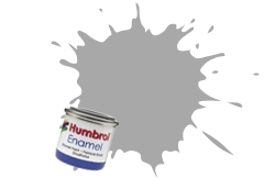 HUMBROL NO.64 MATT LIGHT GREY ENAMEL PAINT 14ml