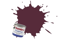 HUMBROL NO.73 MATT WINE ENAMEL PAINT 14ml