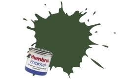 HUMBROL NO.76 MATT UNIFORM GREEN ENAMEL PAINT 14ml
