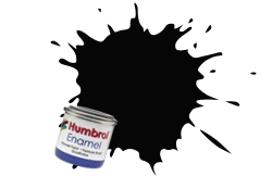HUMBROL NO.85 COAL BLACK ENAMEL PAINT 14ml
