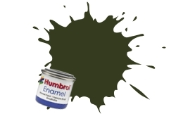 HUMBROL NO.86 MATT LIGHT OLIVE ENAMEL PAINT 14ml