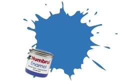 HUMBROL NO.89 MATT MIDDLE BLUE ENAMEL PAINT 14ml
