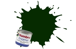 HUMBROL NO.91 MATT BLACK GREEN ENAMEL PAINT 14ml