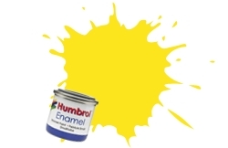 HUMBROL NO.99 MATT LEMON ENAMEL PAINT 14ml