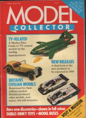 ORIGINAL MODEL COLLECTOR MAGAZINE April 1989 / May 1989