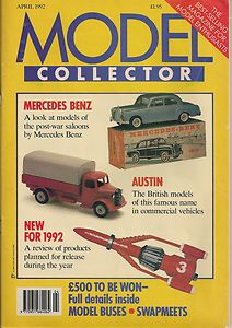 ORIGINAL MODEL COLLECTOR MAGAZINE April 1992