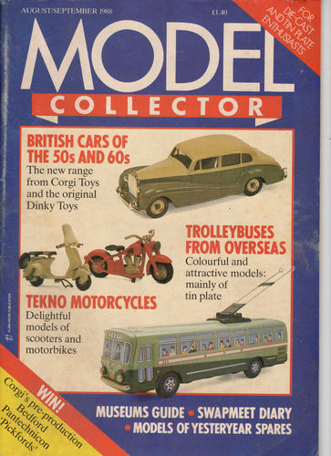 ORIGINAL MODEL COLLECTOR MAGAZINE August 1988 / September 1988
