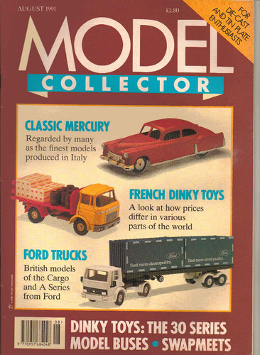 ORIGINAL MODEL COLLECTOR MAGAZINE August 1991