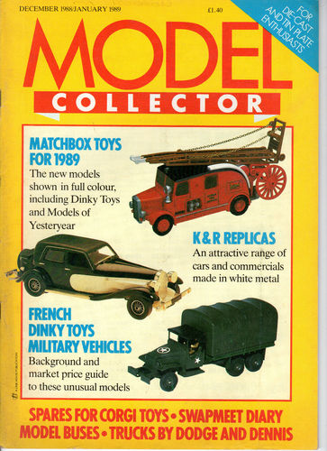 ORIGINAL MODEL COLLECTOR MAGAZINE December 1988 / January 1989