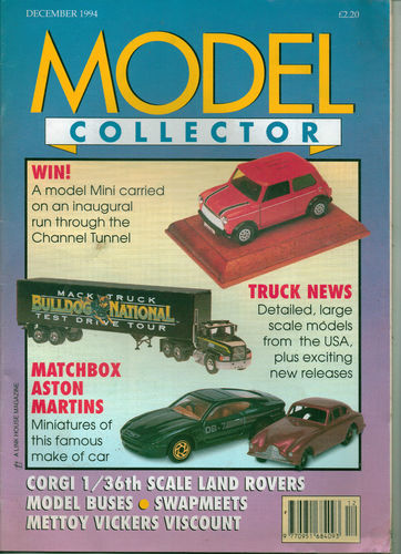ORIGINAL MODEL COLLECTOR MAGAZINE December 1994