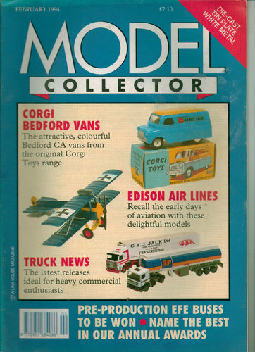 ORIGINAL MODEL COLLECTOR MAGAZINE February 1994