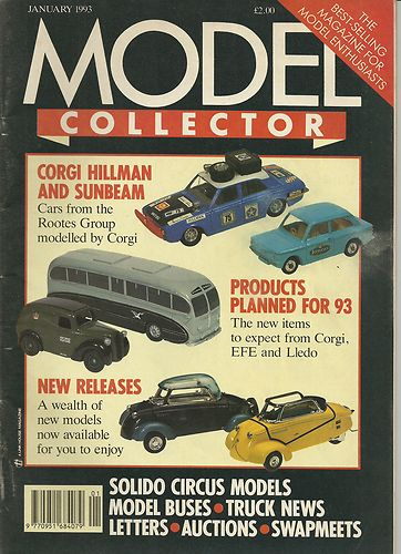 ORIGINAL MODEL COLLECTOR MAGAZINE January 1993