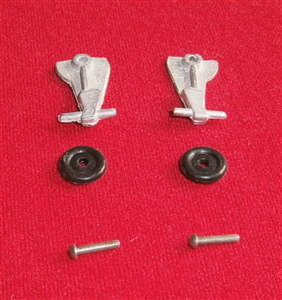 "Dinky Toys 718 Hawker Hurricane Mk IIc "" RIGHT "" Undercarriage Leg, Wheel & Pin [Each]"