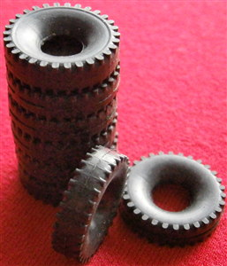 U.K. Only PRE-ORDER 6-8  Week Despatch 5000 Dinky Toys Black Block Tread Tyres Outside 20mm