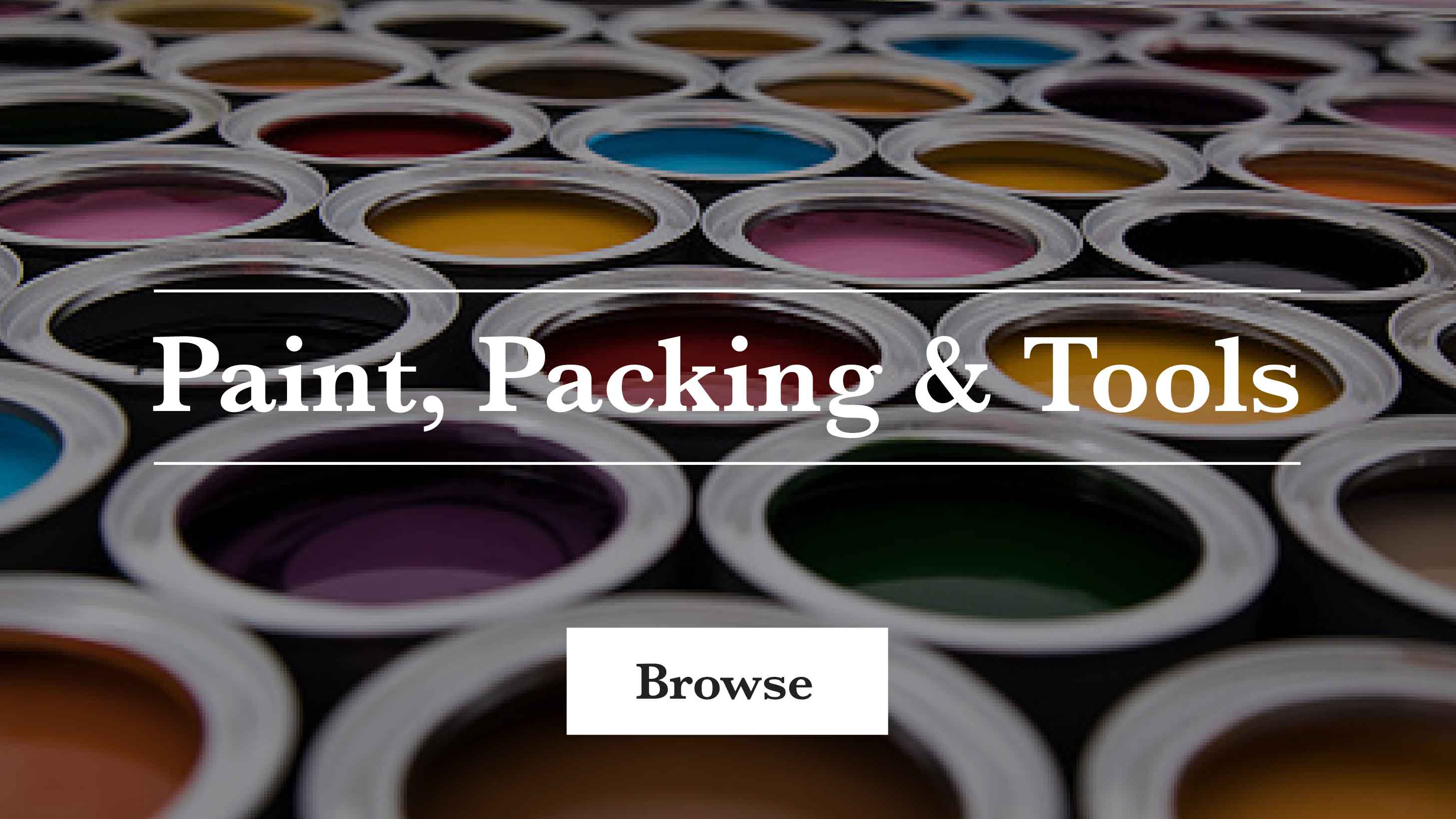 Shop paint, packing & tools